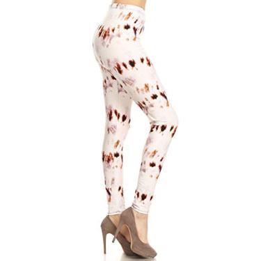Imagem de Leggings Depot Legging feminina popular com estampa moderna BAT2, Butterscotch, One Size