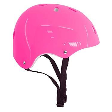 Capacete Rosa Proteção Infantil Para Patins Skate Bike Bicicleta