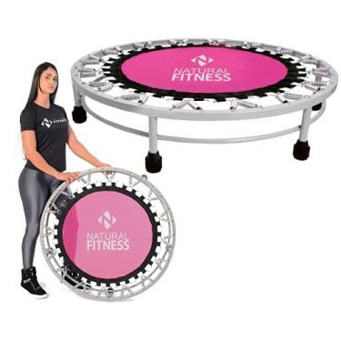Cama Elástica Mini Jump Profissional Rosa Natural Fitness