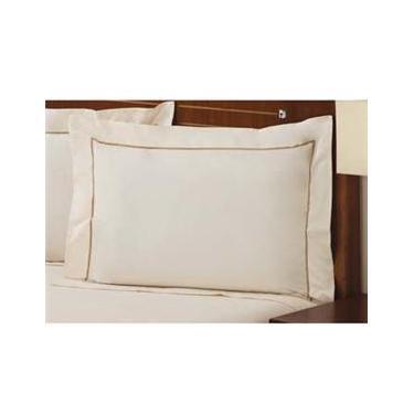 Imagem de Fronha Premium Plumasul Percal 233 Fios Palace Bege - 50 cm x 90 cm