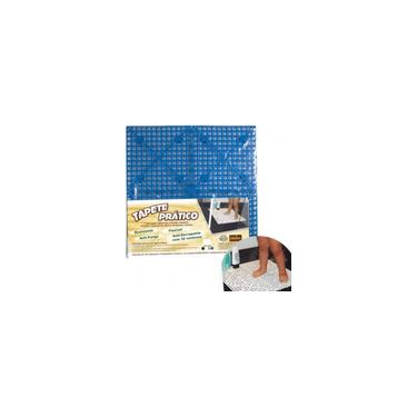 Imagem de Piso Tapete Antiderrapante Com Ventosas Banheiro Sauna Azul 50x50cm