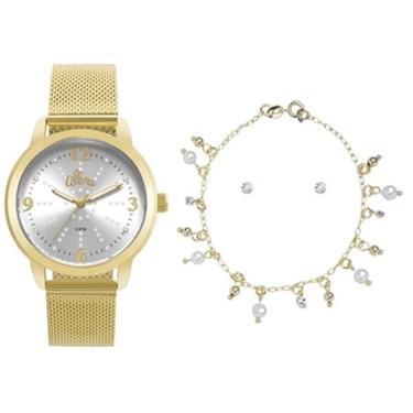 2f10a1ede52 Relógio Feminino Allora Al2035fna k4d Dourado