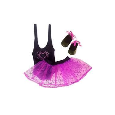 Imagem de Roupa para Boneca - Kit Bailarina Preta – Baby Alive – Laço de Fita