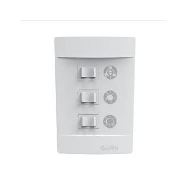 Ventilador De Teto Aliseu Slim 130W Com Luminária Led Branco
