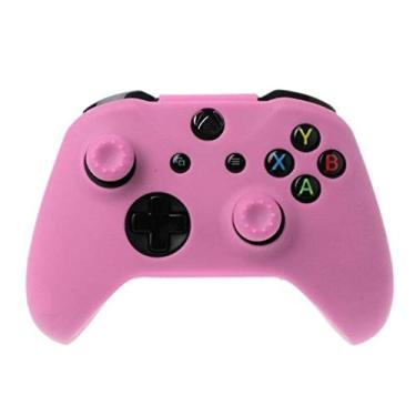 Capa Silicone Pele Protetora Controle Case Proteção de Qualidade Premium Sony Xbox One X S Fat Xbox One Série X S PRONTA ENTREGA BRASIL (Pink)