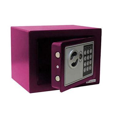 Imagem de Cofre Eletrônico Digital Pequeno (17x23x17cm) Pelegrin Ch-17ef Em Aço Rosa