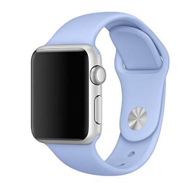 Pulseira Sport em Silicone para relógio Apple Watch 42mm Series 3 2 1 (Lilás 42mm ML)