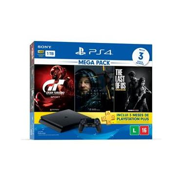 Console Playstation 4 Slim 1TB Bundle 10 + Gran Turismo Sport + Death Stranding + The Last of Us Remasterizado + 3 Meses Playstation Plus