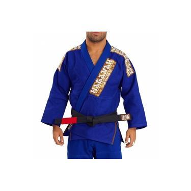 Kimono Jiu Jitsu Haganah Kimonos Combat Light A2 Azul Royal
