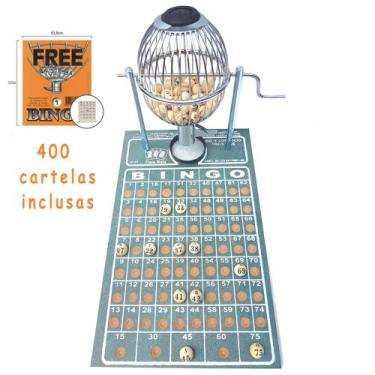 Imagem de Bingo Globo Cromado Nº1 Completo C/ 400 Cartelas - Treis Reis
