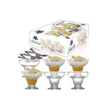 Imagem de Conjunto Para Sobremesa Em Vidro 12 Peças New Cancum Ruvolo