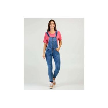 Macacão Feminino Jeans Zíper Biotipo