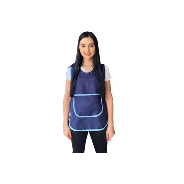 Avental Bata Azul Marinho