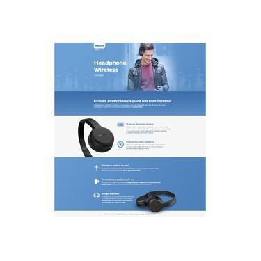 Imagem de Fone de Ouvido Philips TAH1205 Bluetooth com Microfone até 15 horas de bateria - Preto