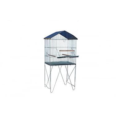 Viveiro Dobrável com Porta Lateral P/Papagaio Calopsita Mansa Maritaca Duplex Grande
