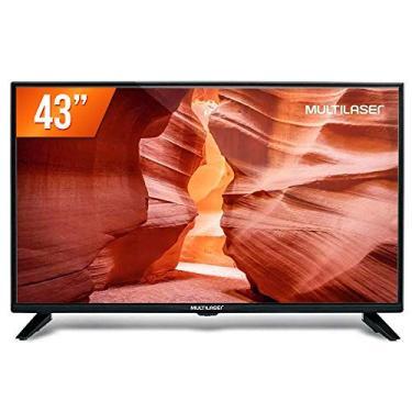Imagem de Tela 43 Pol. Full HD Multilaser Entradas HDMI USB HDMI + Conversor TV Digital - TL018