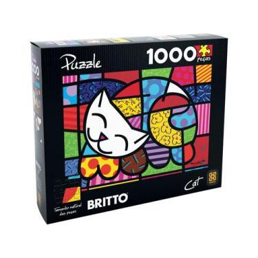 Imagem de Quebra-Cabeça 1000 Peças Puzzle Romero Britto - Grow