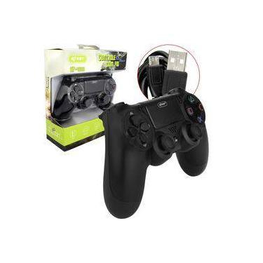 Controle Com Fio Para Video Game Ps4 Preto Kp-4028 Kp-4028 Knup