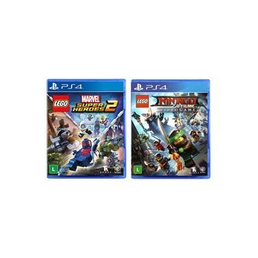 LEGO Marvel Super Heroes 2 + LEGO Ninjago - O Filme: Video Game - PS4