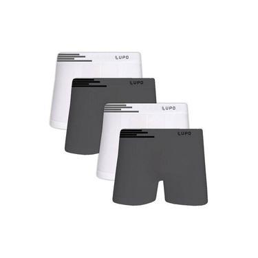 Kit 4 Cuecas sem costura Boxer Lupo Microfibra - 436-902