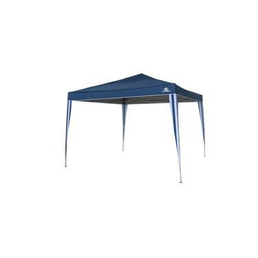 Gazebo Tenda 3x3 Articulado Aluminizado Guepardo Pratiko Proteção UV 60+ Azul Praia Lazer Camping