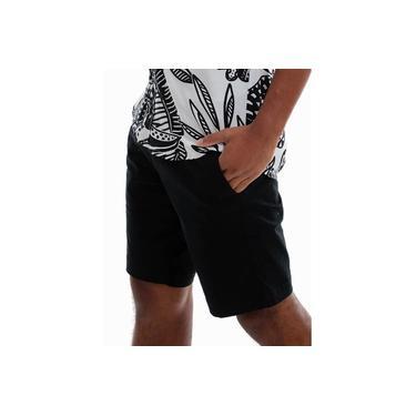 Bermuda jeans masculina preta