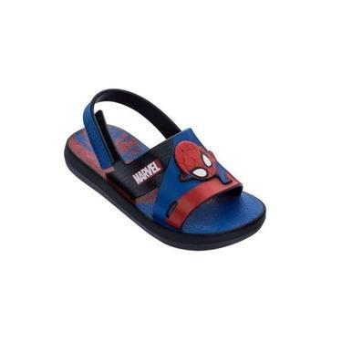 Sandalia Infantil Marvel Preto/azul Grendene 22456