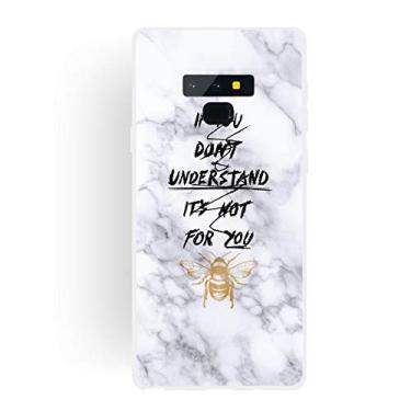 Capa Grandcase para Galaxy Note 9, ultrafina, gel de silicone [design de mármore] capa de proteção TPU macia com absorção de choque para Samsung Galaxy Note 9 de 6,5 polegadas – Bee