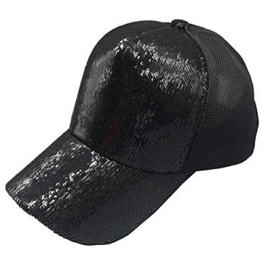 SOIMISS Boné de Beisebol de Verão Moda Sun Shade Boné Simples Chapéu de Beisebol Chapéu Protetor Headwear para Mulher Menina Senhora (Preto)