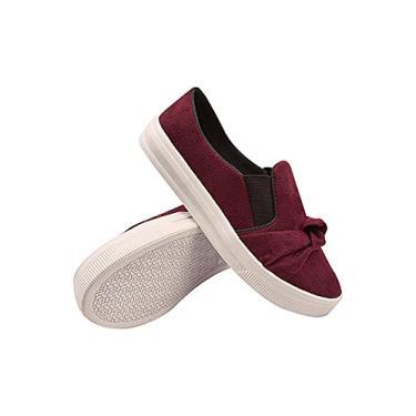 Imagem de Tênis Feminino Plataforma Moda Sneaker Sapatenis Tamanho:38;Cor:Vermelho