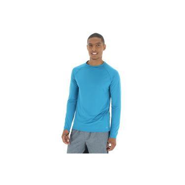 Camiseta Manga Longa com Proteção Solar UV 50+ Oxer New - Masculina - AZUL  Oxer 92ffc427d95