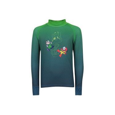 Camiseta Manga Longa com Proteção Solar UV Oxer Turma da Mônica - Infantil  - Verde  2891dc1045