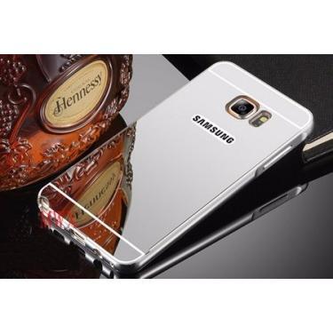 f51516022 Capa Case Bumper Alumínio Espelhada Samsung Galaxy Note 5 (prata)
