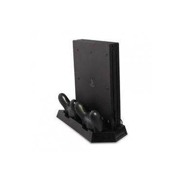 Base Suporte Vertical Ps4 Slim Pro Cooler Hub Usb Carregador Tp4-023b