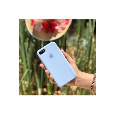 Capa Case Capinha Silicone Aveludado Iphone 7/8 Plus Azul Claro