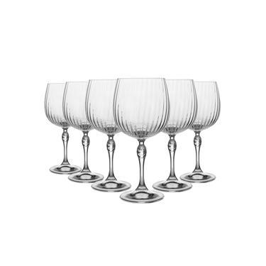 Jogo Com 6 Taças De Cristal Para Gin 755 ml America'20s - Bormioli Rocco - Fabricado na Itália