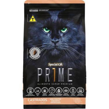 Ração Special Cat Para Gatos Premium Adultos Castrados 10,1 Kg Ração Special Cat Prime Salmão E Arroz Para Gatos Adultos Castrados 10,1 Kg