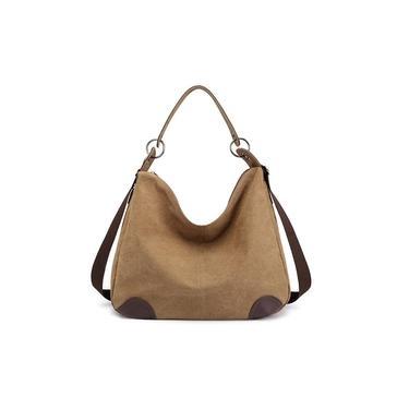 Imagem de Mulheres Casual Canvas Shoulder Bolsa Crossbody Bolsa Tote Bag Handbag