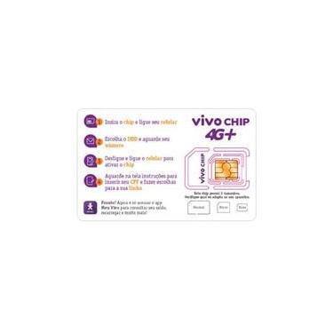 Triplo Chip Vivo 4G Universal 2/3/4 Pré/Controle