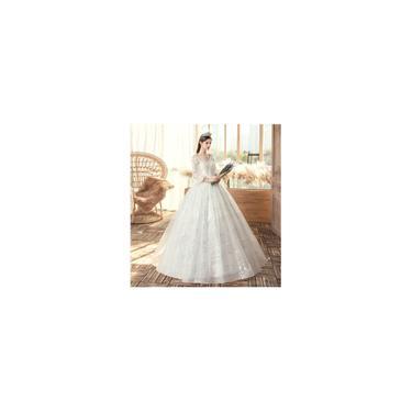 Imagem de Vestido branco de noiva Noiva grávida Tamanho grande A03