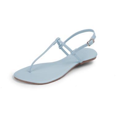 Rasteira Mercedita Shoes Napa Azul Bebê  feminino