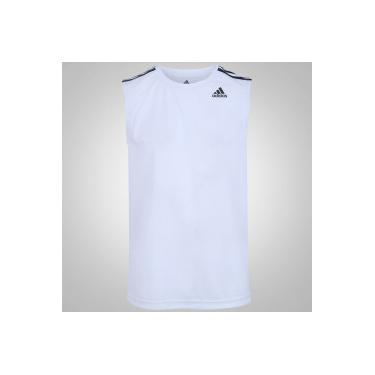 dda1f8c762 Camiseta Regata adidas D2M 3S - Masculina - BRANCO adidas