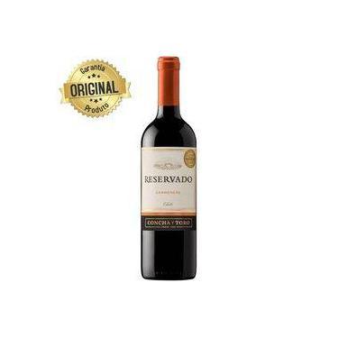 b2424620f Vinho Chileno Tinto Meio Seco Reservado Carmenere Garrafa 750ml - Concha Y  Toro