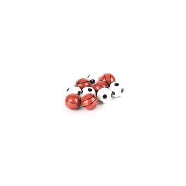 Imagem de 10pcs 1:12 Dollhouse Ball modelo futebol basquete brinquedos de decoração modelo