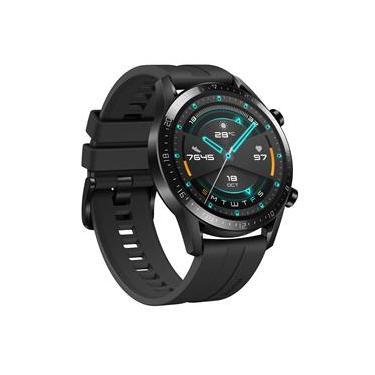 """Smartwatch Huawei Watch GT 2 (46mm) Preto com Tela Amoled de 1.39"""", Bluetooth, GPS, Sensor de Frequência Cardíaca e Resistente à Água"""