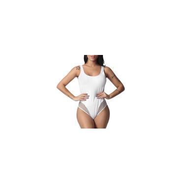 Mulheres Plus Size Sólido Vazado Duas Peças Tankini Beachwear Maiô Maiô