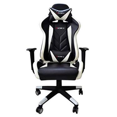 Cadeira Gamer para Computador Racer-X Modelo Rush Reclinável (Branca)