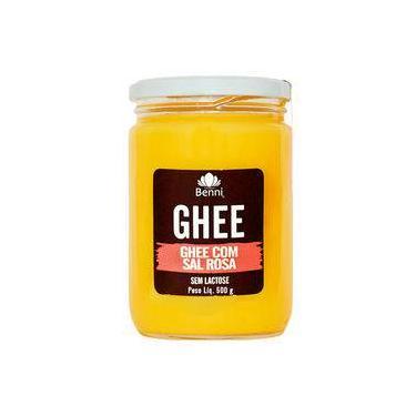 Manteiga Ghee Com Sal Rosa Do Himalaia 500G Benni Alimentos