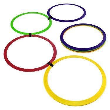 Argola de Agilidade - Kit com 8 - Azul/Amarelo/Vermelho/Verde - Muvin