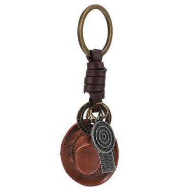 Imagem de Chapéu de Vaqueiro Ocidental Decorações Keychain: Chaveiro Anel Chave Do Carro Acessório Bolsa Pingente Tema Ocidental Ornamento